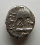 G08- Thrace Apollonia du Ponte diobole Méduse et langouste magistrat KTH 1.30 g RV.JPG