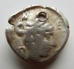 G02- Macédoine  Neapolis 420-350 demidrachme Gorgone et Nymphe. 1.60 g. NEPO RV.JPG