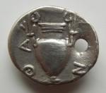 Thrace- Thassos 410-350 trihemiobole Satyre tenant un canthare et amphore RV.JPG