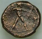 Bruttium (les Bretti) (-214 à -211 env.) Niké à g. Nika àg.  et grain céréale sous sa nuque. Zeus avec foudre, Brettiôn, étoile, corne à dr. RV.JPG